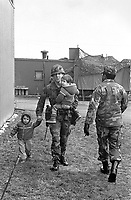 - NATO exercises in Germany, US Army soldiers (January 1985)<br />