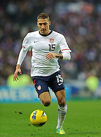 Fabian Johnson of team USA chases the ball during the friendly match France against USA at the Stade de France in Paris, France on November 11th, 2011.