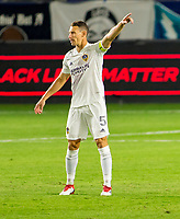 CARSON, CA - OCTOBER 14: Daniel Steres #5 of the United States off the ball during a game between San Jose Earthquakes and Los Angeles Galaxy at Dignity Heath Sports Park on October 14, 2020 in Carson, California.