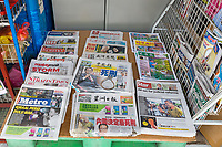 Newspapers at Sundry Items Store, Ipoh, Malaysia.