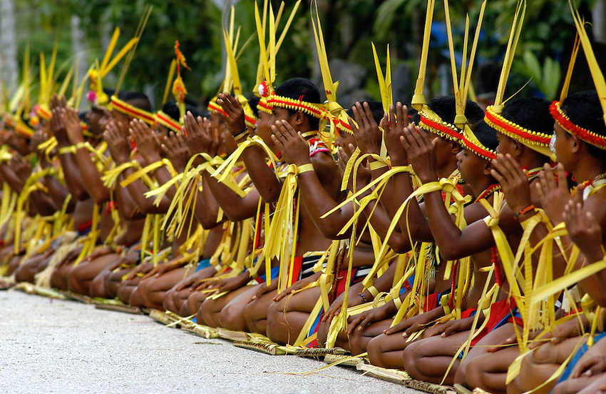 The very traditional Yapese during their festivities, before and during Yap Day, Yap Micronesia,a small island in the Pacific between Guam and Palau