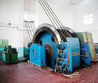 A large winch at a coal mining site in Shanxi Province.