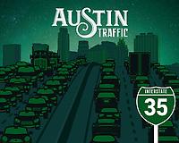 Famous Austin Landmarks Illustration Fine Art Poster Prints