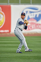 Tacoma Rainiers starting pitcher Justus Sheffield (10) throws before the game against the Salt Lake Bees at Smith's Ballpark on May 27, 2019 in Salt Lake City, Utah. The Bees defeated the Rainiers 5-0. (Stephen Smith/Four Seam Images)