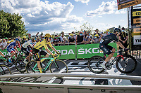 yellow jersey / GC leader Primoz Roglic (SVK/Jumbo-Visma) & other favourites rolling in <br /> <br /> Stage 12 from Chauvigny to Sarran (218km)<br /> <br /> 107th Tour de France 2020 (2.UWT)<br /> (the 'postponed edition' held in september)<br /> <br /> ©kramon