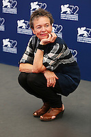 Laurie Anderson attends a photocall for the movie 'Heart Of A Dog' during the 72nd Venice Film Festival at the Palazzo Del Cinema in Venice, Italy, September 9, 2015.<br /> UPDATE IMAGES PRESS/Stephen Richie