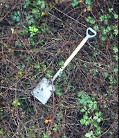 "Pictured: Forensic image of the shovel used by Kane Burns<br /> Re: Kane Burns who killed his friend Mohamed Megherbi with a sword for insulting his mother before burning his body and burying it has been jailed for 10-and-a-half years at Cardiff Crown Court, Wales, UK.<br /> The ""skeletonised"" remains of the 24-year victim were found in a shallow grave on 30 November last year.<br /> Burns, 26, from Cardiff, denied murder but on the second day of his trial, pleaded guilty to manslaughter."