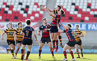 Monday 27th February 2017 | ULSTER SCHOOLS CUP SEMI-FINAL<br /> <br /> James Hume and Angus Kernohan challenge for the ball  during the Ulster Schools Cup Semi-Final between RBAI and Ballymena Academy  at Kingspan Stadium, Ravenhill Park, Belfast, Northern Ireland. <br /> <br /> Photograph by John Dickson | www.dicksondigital.com