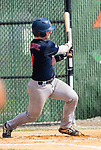 WATERBURY, CT 073021JS06 US9 Prospects'  Kyle Asanovic (9) rips an RBI base hit during their Mickey Mantle World Series game against CT Gamecocks Friday at Municipal Stadium in Waterbury. <br />  Jim Shannon Republican American