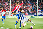 Fernando Torres (l) of Atletico de Madrid competes for the ball with Yuri Berchiche Izeta of Real Sociedad during their La Liga match between Atletico de Madrid vs Real Sociedad at the Vicente Calderon Stadium on 04 April 2017 in Madrid, Spain. Photo by Diego Gonzalez Souto / Power Sport Images