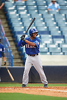 Tre Turner (23) of Holy Cross High School in Slidell, Louisiana playing for the Texas Rangers scout team during the East Coast Pro Showcase on July 28, 2015 at George M. Steinbrenner Field in Tampa, Florida.  (Mike Janes/Four Seam Images)