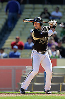 February 28 2010: Aaron Westlake of Vanderbilt  during game against Oklahoma State at Dodger Stadium in Los Angeles,CA.  Photo by Larry Goren/Four Seam Images
