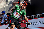 Green Jersey holder Caleb Ewan (AUS) Lotto-Soudal wins Stage 2 the Dubai Municipality Stage of the UAE Tour 2020 running 168km from Hatta to Hatta Dam, Dubai. 24th February 2020.<br /> Picture: LaPresse/Fabio Ferrari   Cyclefile<br /> <br /> All photos usage must carry mandatory copyright credit (© Cyclefile   LaPresse/Fabio Ferrari)