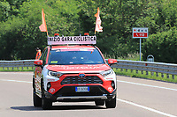 27th May 2021; Rovereto, Trentino, Italy; Giro D Italia Cycling, Stage 18 Rovereto to Stradella; Front car of Toyota ahead of the race riders to ensure clear roads