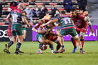 26th September 2020; Toulon, France; European Challenge Cup Rugby, semi-final; RC Toulon versus Leicester Tigers;  Raphael Lakafia (RC Toulon) stops the Leicester break