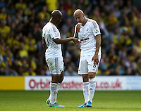 Dejected Jonjo Shelvey of Swansea   during the Barclays Premier League match Watford and Swansea   played at Vicarage Road Stadium , Watford