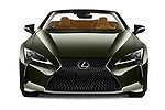 Car photography straight front view of a 2021 Lexus LC-Convertible 500 2 Door Convertible Front View