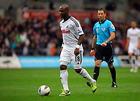 FAO SPORTS PICTURE DESK<br /> Pictured: Leroy Lita of Swansea. Saturday, 14 April 2012<br /> Re: Premier League football, Swansea City FC v Blackburn Rovers at the Liberty Stadium, south Wales.