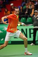 06-04-12, Netherlands, Amsterdam, Tennis, Daviscup, Netherlands-Rumania, Thomas Schoorel