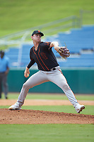 Pitcher Brandon Neely (62) of Spruce Creek HS in Seville, FL playing for the San Francisco Giants scout team during the East Coast Pro Showcase at the Hoover Met Complex on August 3, 2020 in Hoover, AL. (Brian Westerholt/Four Seam Images)