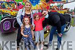Amy Hewitt, Mia and Eva and Aaron Moloney from Newcastlewest enjoying Birds Amusements on Saturday.