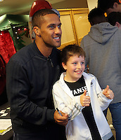 Pictured: Wayne Routledge Tuesday 06 December 2016<br /> Re: Swansea City FC Christmas Party at the Liberty Stadium, Wales, UK