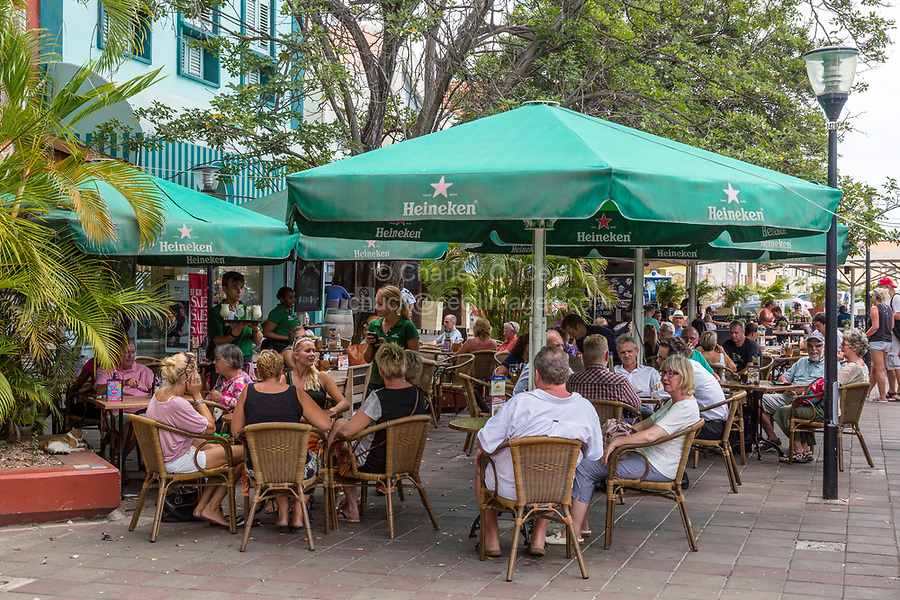 Willemstad, Curacao, Lesser Antilles.  Outdoor Restaurant.
