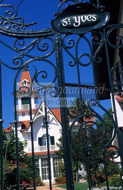 Europe/France/Aquitaine/33/Gironde/Bassin d'Arcachon/Arcachon: La ville d'été - Détail de la Villa Saint-Yves
