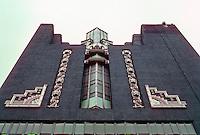 Philadelphia: WCAR Building, Detail. Early Art Deco--1928. Harry Sternfeld & Gabriel Roth. Photo '91.