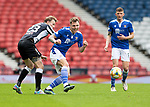 St Mirren v St Johnstone…09.05.21  Scottish Cup Semi-Final Hampden Park <br />Jason Kerr is fouled by Lee Erwin<br />Picture by Graeme Hart.<br />Copyright Perthshire Picture Agency<br />Tel: 01738 623350  Mobile: 07990 594431