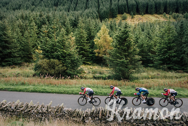 Team Lotto-Soudal<br /> <br /> Time Trial through the magnificent Lake District National Park in Cumbria<br /> <br /> Stage 5 (TTT): Cockermouth to Whinlatter Pass (14km)<br /> 15th Ovo Energy Tour of Britain 2018