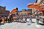 The leaders jerseys line up in the Piazza del Campo for the start of Stage 12 the Tappa Bartali of the 2021 Giro d'Italia, running 212km from Siena to Bagno di Romagna, Italy. 20th May 2021.  <br /> Picture: LaPresse/Gian Mattia D'Alberto | Cyclefile<br /> <br /> All photos usage must carry mandatory copyright credit (© Cyclefile | LaPresse/Gian Mattia D'Alberto)