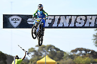 Bailey Malkiewicz / Husqvarna 1st overall<br /> 2016 MX Nationals / Round 1 / 85cc<br /> Australian Motocross Championships<br /> Horsham VIC Sunday 3 April 2016<br /> © Sport the library / Jeff Crow