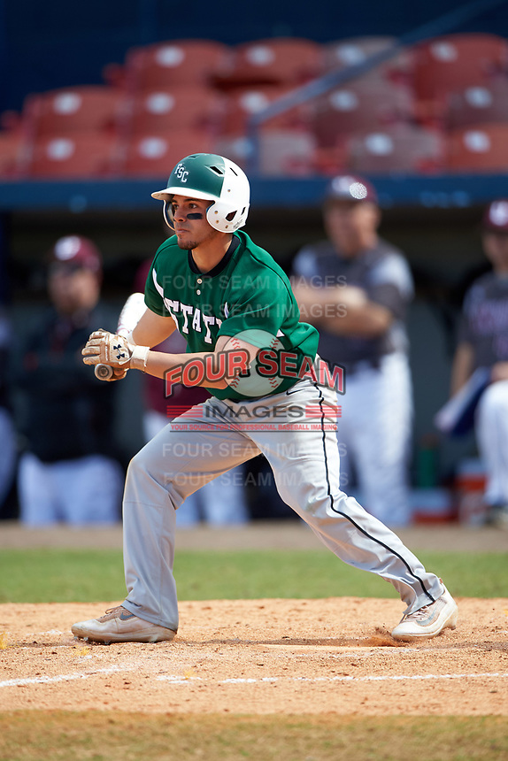 Farmingdale Rams center fielder Nick Attardi (13) at bat during a game against the Union Dutchmen on February 21, 2016 at Chain of Lakes Stadium in Winter Haven, Florida.  Farmingdale defeated Union 17-5.  (Mike Janes/Four Seam Images)