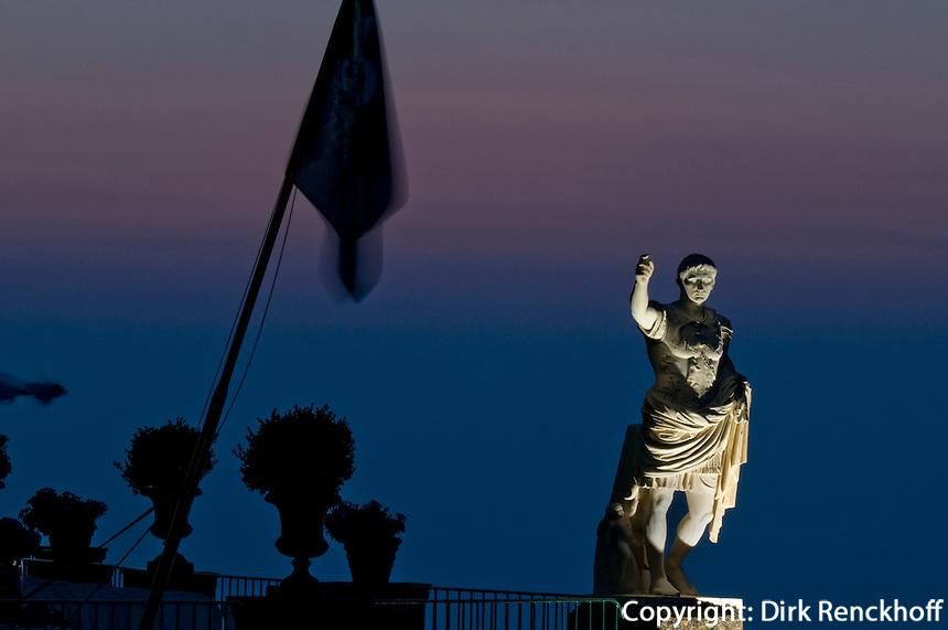 Italien, Capri, Hotel Caesar Augustus in Anacapri, Statue von Augustus