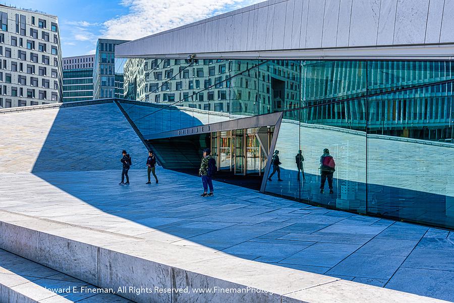Vertigo-inducing view of Oslo Opera House