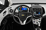 Car pictures of steering wheel view of a 2016 Chevrolet Sonic LTZ 4 Door Sedan Steering Wheel