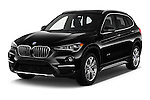 2017 BMW X1 xDrive28i 5 Door SUV Angular Front stock photos of front three quarter view