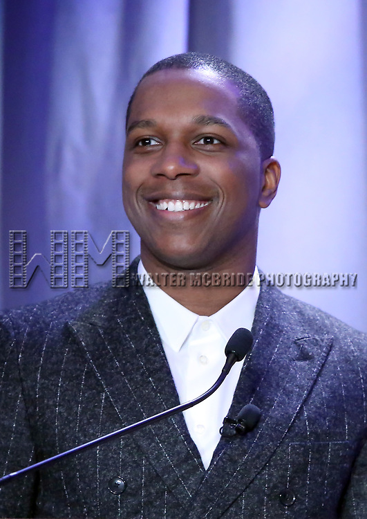 Leslie Odom Jr. attend the 2018 Tony Awards Nominations Announcement at The New York Public Library for the Performing Arts on May 1, 2018 in New York City.