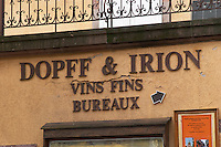 winery wine shop dopff and irion riquewihr alsace france