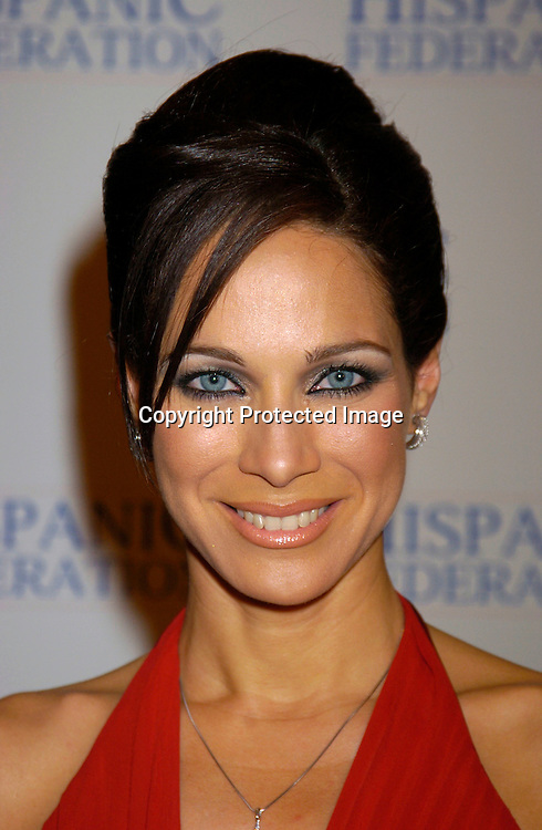Carmen Dominicci, co-anchor of Univision Network's Primer Impacto..at the Hispanic Federation's 10th Annual Gala on March 11, 2004 at the Waldorf Astoria Hotel. ..Photo by Robin Platzer, Twin Images