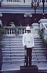 "The Royal Guards is the Guards Division of the Royal Thai Armed Forces, guarding the Royal Family of Thailand. The Royal Guards were established by King Chulalongkorn the Great of Thailand in 1859, when he was still crown prince. Initially, the Royal Guards were servants with duties such as scaring crows, which led to commoners referring to them as the ""Mahat Lek Lai Ka,"" roughly translated as ""Scarecrow Corps."""