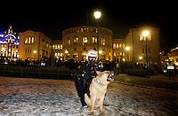Oslo, 20090108. NY VERSJON - pro/con israel, demonstrasjoner i Oslo. Foto: Eirik Helland Urke