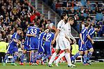 Schakle 04 Sane scores during Champions League soccer match at Santiago Bernabeu stadium in Madrid, Spain. March, 10, 2015. (ALTERPHOTOS/Caro Marin)