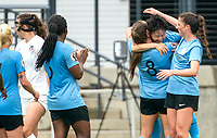WASHINGTON D.C., ON MARCH 28, 2021 - MARCH 28: Washington, D.C.- March 28: Sky Blue FC midfielder Sodom Lee (11) after scoring the winning goal during a match between the Washington Spirit and Sky Blue FC at Audi Field, in Washington D.C., on March 28, 2021 during a game between Sky Blue FC and Washington Spirit at Audi Field, in Washington D.C., on March 28, 2021 in Washington D.C., on March 28, 2021.