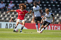 18th July 2021; Pride Park, Derby, East Midlands; Pre Season Friendly Football, Derby County versus Manchester United;  Hannibal Mejbri of Manchester United spins on the ball