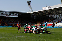 24th April 2021; Brentford Community Stadium, London, England; Gallagher Premiership Rugby, London Irish versus Harlequins; A scrum inside an empty Brentford Community Stadium due to the pandemic