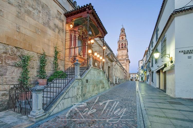 Europe, Spain, Andalucia, Cordoba, La Mezauita-Catedral (Catedral Mosque of Cordoba) Bell Tower