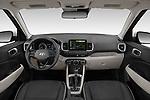 Stock photo of straight dashboard view of 2020 Hyundai Venue Denim 5 Door SUV Dashboard