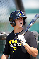 Pittsburgh Pirates Kevin Newman during instructional league practice on October 2, 2015 at Pirate City in Bradenton, Florida.  (Mike Janes/Four Seam Images)